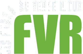 Logo fibres de verre rioux, FVR, lettres blanches